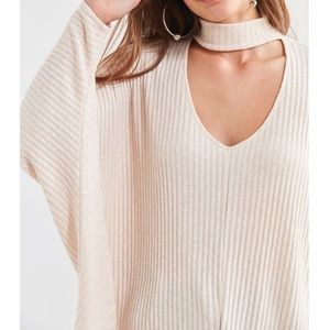 UO knit open neck sweater